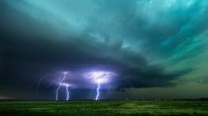 Cloud Earth Field Lightning Sky 1920x1080 Wallpaper