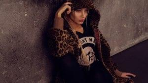 Alena Shishkova Women Model Russian Blonde Blue Eyes Hoods Painted Nails Women Indoors Alena Coats O 1280x854 wallpaper