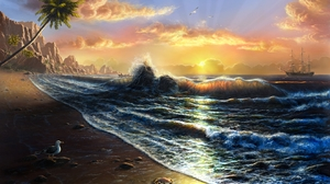 Artistic Seascape 1680x1050 Wallpaper