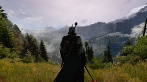 The Witcher 3 Wild Hunt Geralt Of Rivia Screen Shot Video Games PC Gaming Landscape Mountains RPG 3840x2160 Wallpaper