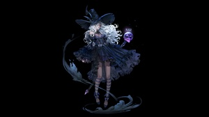 Dress Long Hair Skull White Hair Witch Witch Hat 4800x2400 Wallpaper
