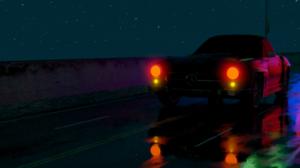 Car Lights Crime Street 80s Retro Car Night 1920x1080 Wallpaper