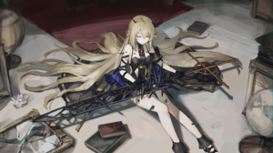 Anime Anime Girls Nashidrop Alchemy Stars Blonde Long Hair Weapon 4912x3473 Wallpaper