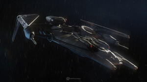 Tie Cruiser Vehicle Star Wars Rasmus Poulsen Science Fiction Star Wars Ships Digital Art ArtStation 1920x1080 wallpaper