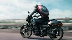 Captain America Captain America The Winter Soldier Harley Davidson Marvel Comics Motorcycle 1920x1264 Wallpaper