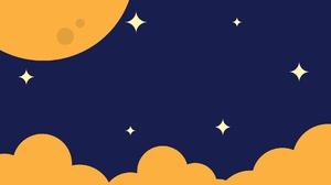 Cloud Moon Minimalist 1920x1080 Wallpaper