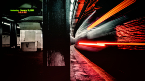 Neon Neon Lights Colorful Night Black Background Urban Cityscape City Street Lines 3840x2160 wallpaper