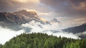 Forest Cloud Mountain 2048x1152 wallpaper