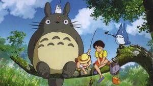 Anime Studio Ghibli My Neighbor Totoro 1360x768 Wallpaper