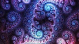 Artistic Digital Art Fractal Pattern Purple 1920x1080 Wallpaper