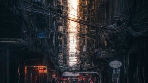Architecture Building Photography Street Portrait Display Asia Motorcycle Wires Dog Electricity Ryos 1638x2048 Wallpaper