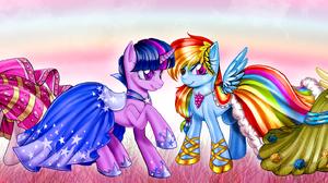 Applejack My Little Pony Fluttershy My Little Pony Pinkie Pie Rainbow Dash Rarity My Little Pony Twi 3504x878 Wallpaper