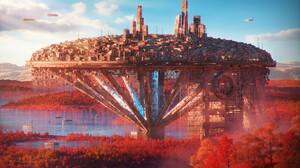 Sci Fi City 1920x1200 Wallpaper