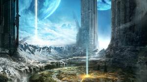 Sci Fi City 2560x1600 Wallpaper