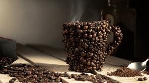 Coffee Beans Cup Still Life 7200x4800 Wallpaper