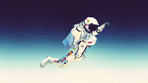 Ultrawide Skydiving Felix Baumgartner Red Bull Astronaut 5120x1440 Wallpaper