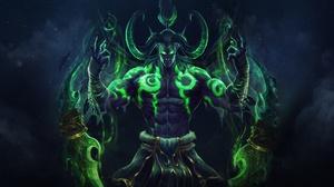 Demon Illidan Stormrage Night Elf World Of Warcraft 3000x1500 Wallpaper