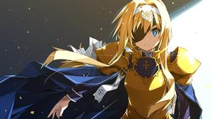 Anime Girls Shikei Sword Art Online Sword Art Online Alicization Alice Zuberg Armor Blonde Blue Eyes 1920x1080 Wallpaper