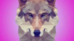 Facets Wolf 3840x2160 Wallpaper