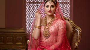 Indian Jewelry Saree Black Hair Necklace Lipstick Woman 2800x2166 Wallpaper