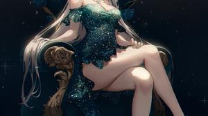 Anime Anime Girls Ttosom Artwork Silver Hair Long Hair Dress 2000x2996 wallpaper