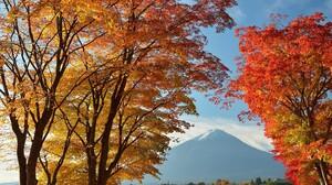 Mountain Volcano Japan Fall Mount Fuji 2048x1443 Wallpaper