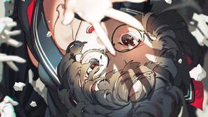 Anime Girls Anime Yoneyama Mai Artwork Dark Hair Glasses School Uniform 2000x2753 Wallpaper