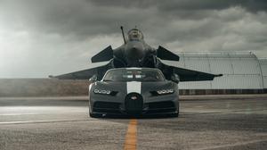 Bugatti Chiron Car Dassault Rafale 1920x1080 wallpaper