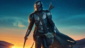 The Mandalorian Star Wars Baby Yoda Armor Helmet Weapon Cape TV Series 3840x2160 Wallpaper