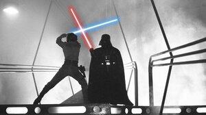 Darth Vader Lightsaber Luke Skywalker Star Wars Episode V The Empire Strikes Back 2048x1331 Wallpaper