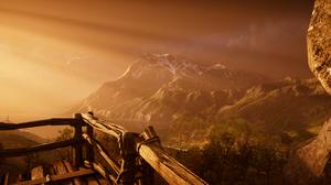 Assassins Creed Assassins Creed Valhalla Landscape Orange Brown 3440x1440 Wallpaper