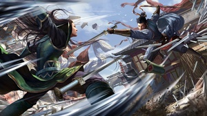 Battle Samurai Sword Warrior Woman Warrior 1920x1080 Wallpaper