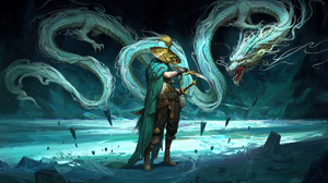 Dragon Fantasy Art Warrior Creature Fantasy Warrior 3840x2160 Wallpaper