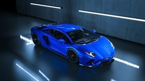 Blue Car Lamborghini Car Supercar Sport Car 1920x1080 Wallpaper