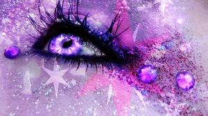 Artistic Eye Glitter Jewelry Makeup Purple Sparkles Star 2224x1504 Wallpaper