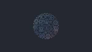 Minimalism Texture Icons Biometrics Gradient Soft Gradient Code Graphic Design Logo Logotype 3840x2160 Wallpaper