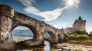 Eilean Donan Castle Castle Scotland Bridge Sunbeam 4830x3220 Wallpaper