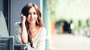 Asian Brunette Depth Of Field Girl Long Hair Model Smile Woman 4500x3002 Wallpaper