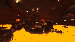 Minecraft Minecraft Nether Red Crimson Lava 1920x1080 Wallpaper