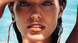Emily DiDonato Model Blue Eyes Women Outdoors Looking At Viewer Sunglasses Wet Hair 1876x2500 Wallpaper