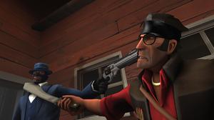 Team Fortress 2 Spy Team Fortress Sniper Team Fortress 1920x1080 Wallpaper