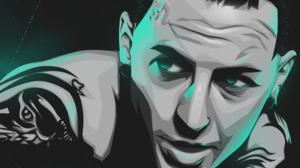 Black Teal Vexel Music Linkin Park Chester Bennington 2121x3000 wallpaper