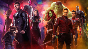 Anthony Mackie Chris Hemsworth Chris Pratt Falcon Marvel Comics Gamora Groot Hulk Mantis Marvel Comi 3490x2215 Wallpaper