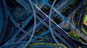 Aerial Freeway Road Traffic 2048x1150 wallpaper