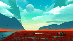 JoeyJazz Space Art Landscape 2560x1440 Wallpaper