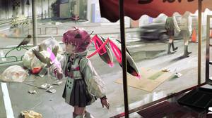 Anime Girls Window Original Characters Kouka 2800x1420 Wallpaper