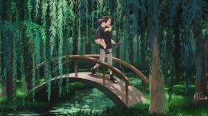 Black Hair Boy Bridge Feet Itachi Uchiha Sandal Sasuke Uchiha 2000x1133 Wallpaper