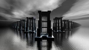 3d Black Amp White Surreal 3840x2160 Wallpaper