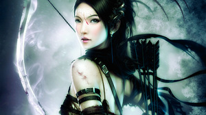 Girls With Bows Fantasy Armor Archer Women Artwork 2560x1440 Wallpaper