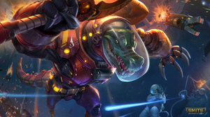 Smite Watermarked Sobek Smite Armored Spacesuit Claws Crocodile Egyptian Mythology Anthro 3840x2160 Wallpaper